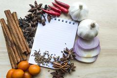 Notebook for recipes Stock Photos