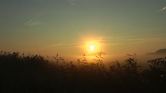 Sunrise in germany Stock Footage
