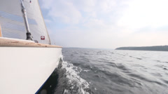 Sailing in slowmotion 1 Stock Footage
