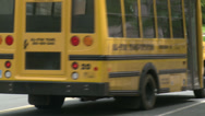 Stock Video Footage of Small school bus traveling on road (5 of 5)