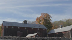 Old wooden Red Barns Stock Footage