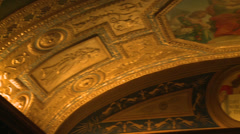 Gilded ceiling of library (1 of 2) Stock Footage