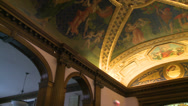 Stock Video Footage of Gilded ceiling of library (2 of 2)