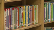Stock Video Footage of Children's books on shelf (1 of 2)
