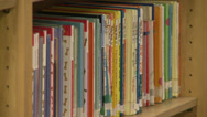 Stock Video Footage of Children's books on shelf (2 of 2)