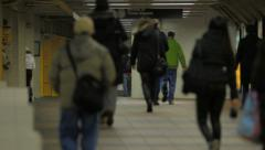 NYC Subway People Walking Stock Footage