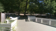 Stock Video Footage of Deck overlooking water on grounds of Nature Center