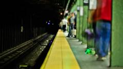 NYC Subway Time Lapse - stock footage