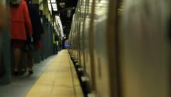NYC Subway Departing Stock Footage