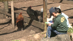 Children taking notes and observing animals (1 of 8) Stock Footage