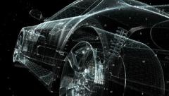 Concept Car Blueprint Stock Footage
