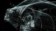 Stock Video Footage of Concept Car Blueprint