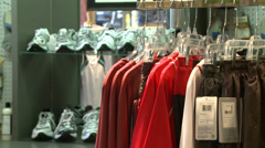Inside sporting goods store (7 of 7) - stock footage