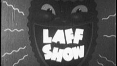 LAFF SHOW Funny Face Comedy Vintage Old Film Title Graphic Leader 8mm 7025 - stock footage