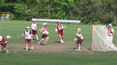High School boys' lacrosse practice (5 of 9) - stock footage
