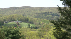 Large estate in valley from distance (1 of 2) Stock Footage