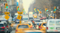 NYC Traffic Time Lapse Zoom Stock Footage