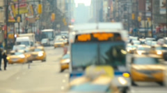 NYC Traffic Time Lapse Stock Footage