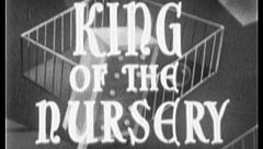 KING OF THE NURSERY Vintage Old Film Title Graphic Leader 8mm 7027 Stock Footage