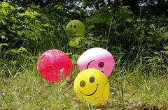 smiling baloons - stock photo