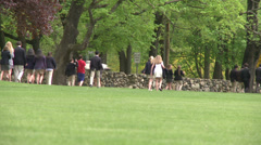 Private school students walking (2 of 2) Stock Footage
