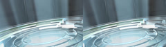 Spinning Glass Floor - Stereoscopic 3D Stock Footage