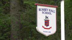 Rumsey Hall School sign (2 of 3) Stock Footage
