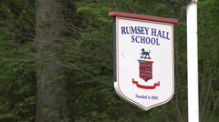 Rumsey Hall School sign (3 of 3) Stock Footage