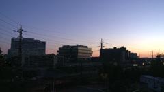Stamford skyline night to dawn Time Lapse (2 of 5) Stock Footage
