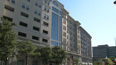 Building in Downtown Stamford Stock Footage