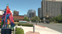 Stamford Town Center and surroundings Stock Footage