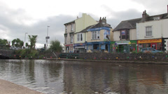 Dawlish water in dawlish town centre Stock Footage