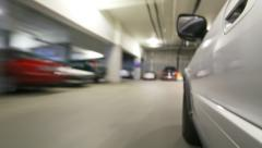 Parking Garage Driving Time Lapse Stock Footage