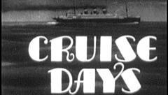 CRUISE DAYS Vintage Old Film Ocean Liner Travel Title Graphic Leader 8mm 7031 Stock Footage
