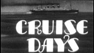 Stock Video Footage of CRUISE DAYS Vintage Old Film Ocean Liner Travel Title Graphic Leader 8mm 7031