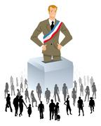 political elections - stock illustration