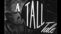 A TALL TALE Vintage Old Story Home Movie Film Title Graphic Leader 8mm 7032 Stock Footage