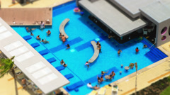 Pool Time Lapse Tilt Shift Stock Footage