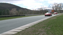 Speeding down a raceway (7 of 8) Stock Footage