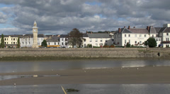 Barnstaple town and river taw Stock Footage