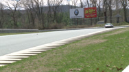Stock Video Footage of Speeding down a raceway (2 of 8)