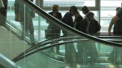 People on escalator time lapse 04 Stock Footage
