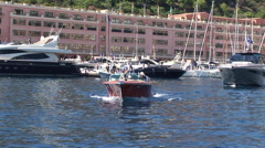 Boat leaving a port Stock Footage