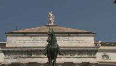 Carlo Felice Theater in Genova Stock Footage