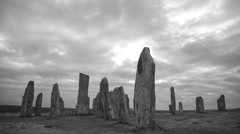 Gothic pagan standing stones Stock Footage