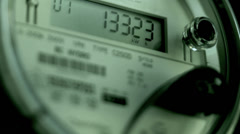 smart electric power meter, residential - stock footage