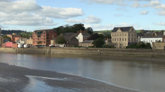River taw and barnstaple town Stock Footage