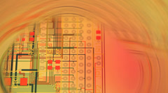 layout of a printed circuit board - stock footage