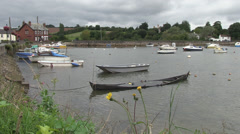 cockwood harbour in south devon Stock Footage