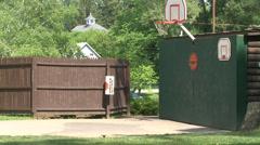 Kids playing some backyard basketball (4 of 4) Stock Footage